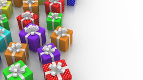 Animated Gift Boxes stock video footage