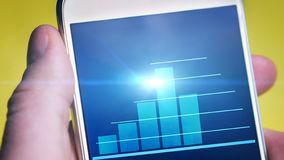 Animated graph in a mobile phone screen
