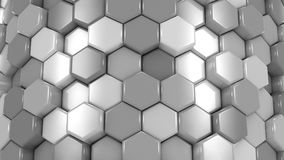 Animated Gray Honeycombs stock video footage