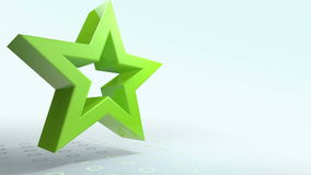 Animated green star transform into the screen stock video