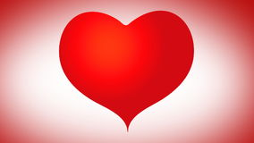Animated heart assembling pieces puzzle valentines day stock video footage