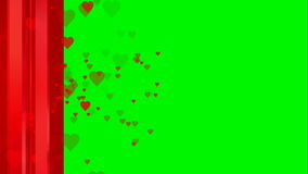 Animated heart red jacket on green screen chroma key useful for Oscar movie review stage show entertainment drama valentine. Jacket on green screen chroma key stock video footage