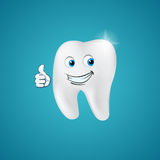 Animated hero happy tooth Stock Photography