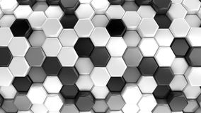 Animated Honeycombs Changes Color stock video