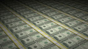 Animated Huge Stacks of Hundred Dollar Bills. Animation of Money rotating including stacks of one hundred $100 dollar bills in a motion graphic simulation of U.S stock video