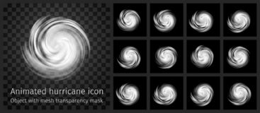 Free Animated Hurricane Icon With Transparency Stock Photo - 156584340