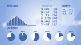 Animated Infographics Business, Finance or Economy illustrative background. 4K stock video footage