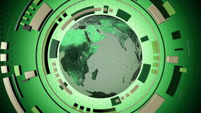 Animated interactive media hud with a loop-able globe 4K