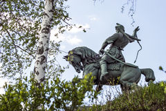 An animated legend. The monument to the national hero Salavat Yulaev. The City Of Ufa. The monument stands on a high Bank of the river Belaia Stock Images