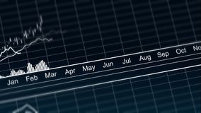 Animated line chart representing demographic statistics data, analytical graph Royalty Free Stock Photography