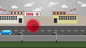 Animated metaphors how Covid-19 make planet greener