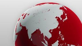 Breaking News Red Globe Backdrop