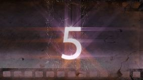 Animated movie countdown video. Animated movie countdown with fireworks and lights