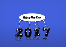 Animated numerals of 2017 year congratulating with new year Royalty Free Stock Photography