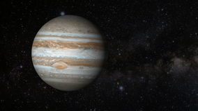 Animated one revolution of planet Jupiter stock footage