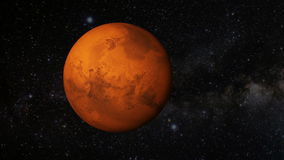 Animated one revolution of planet Mars Royalty Free Stock Images