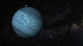 Animated one revolution of planet Neptune stock video