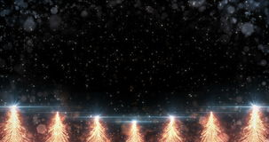 Animated Orange Christmas Fir Tree Star background seamless loop 4k resolution. stock video