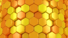 Animated Orange Honeycombs stock video