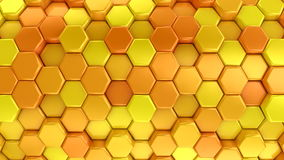 Animated Orange Honeycombs stock video footage