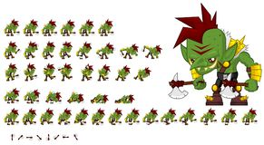 Animated Orc Character Sprites