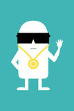 Animated personality cool man. Cool gangsta man animated personality Stock Photos
