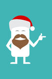 Animated personality Santa Claus Royalty Free Stock Photography