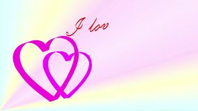 Animated the phrase I live you!. As a gift to your loved one. What could be more romantic on Valentine's Day? It will keep you warm feelings and give pleasure stock video
