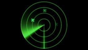 Animated Radar Monitor stock video