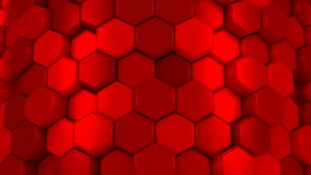 Animated Red Honeycombs stock video footage