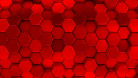 Animated Red Honeycombs stock video