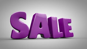 Animated sale sign stock video footage