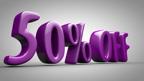 Animated sign 50% discount stock video footage