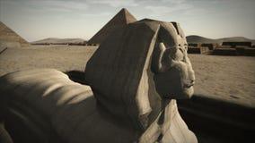 Animated Sphinx at the Giza platform, Egypt 4K