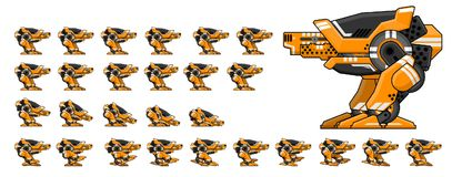 Animated Robot Character Sprites