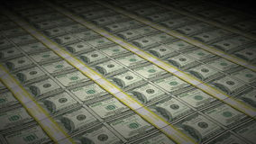 Animated Stacks of Hundred Dollar Bills Rotating. Animation of Money rotating including stacks of one hundred $100 dollar bills in a motion graphic simulation of stock video footage