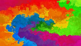 Animated stained background seamless loop video rainbow spectrum full colors stock video