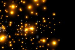 Animated stars on a black background. The starry sky. royalty free illustration