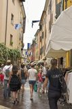 Animated street in Garda Royalty Free Stock Images