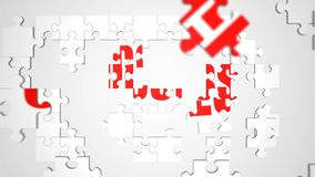 Animated Success Jigsaw Puzzle Royalty Free Stock Photography