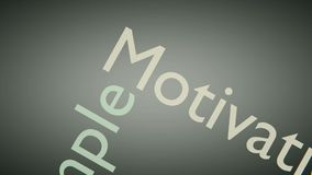Animated Success Word Illustration. Typography text . motivation animation royalty free illustration