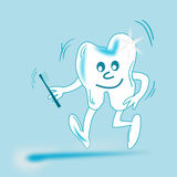 Animated teeth. The image could be used for the sale of products such as toothbrushes, toothpaste, or everything related hygiene and dental health Royalty Free Illustration