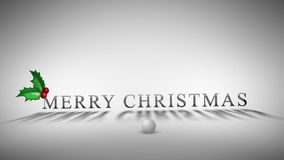 Animated titles for christmas and new year stock footage
