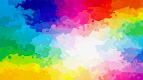 Animated twinging stained background seamless loop video - watercolor splotch effect - vibrant rainbow full color spectrum