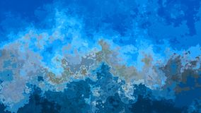 Animated twinkling stained background seamless loop video - watercolor splotch effect - indigo, gray and sky blue color