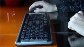 Animated typing on typewriter stock footage