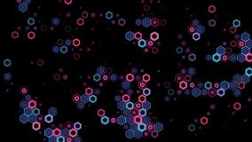 Animated VJ background from neon rhombs stock footage