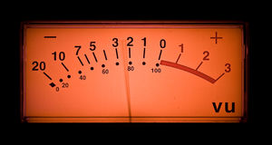 Animated vu meter. Of a professional preamp stock images