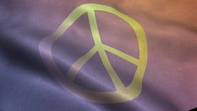 Waving flag wih peace sign
