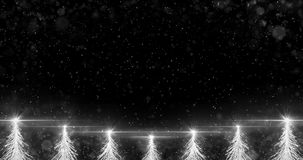 Animated White Christmas Fir Tree Star background seamless loop 4k resolution. stock video